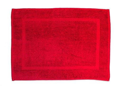 Soleil d'ocre Tappeto Bagno Tinta Unita Rosso 900 g/m2
