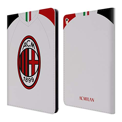 Official AC Milan Away 2019/20 Crest Kit Leather Book Wallet Case Cover Compatible For Apple iPad Pro 9.7 (2016)