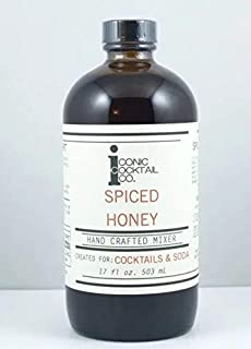 Cocktail Mixer by ICONIC COCKTAIL CO. | Hand-Crafted and Ready-to-Use Mixers for Creating A Perfect Balance Craft Cocktail, Soda, Coffee & More | Easy to Use Mixer (Spiced Honey)