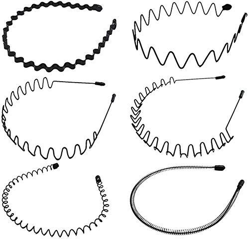 GOODCHANCEUK - 6 fasce per capelli in metallo, antiscivolo, multistile, accessori per capelli per uomini e donne