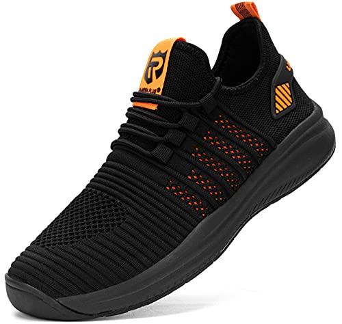 LARNMERN Zapatillas de Running para Hombre Mujer Antideslizante Impermeable Zapatos para Correr y Asfalto Aire Libre y Deportes Calzado