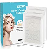 Acne Patch(108 Count), Poppyo Acne Care Pimple Patch Absorbing Round Pads, Blemish Covers - Hydrocolloid Bandages(2 sizes), Acne Spot Treatment for Face & Skin Spot Patch That Conceals Acne