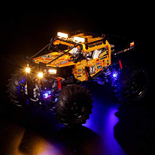 XW LED Light Set for (Four-Wheeled Off-Road Vehicles) Building Blocks Model, USB Light Kit Compatible LEGO 42099, Not Include Lego Model,Standard