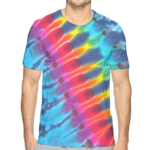 Tie Dye T-shirt voor heren, korte mouwen, print