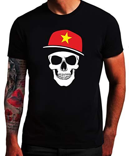 Vietnam T-Shirt - Skull Fahne - Totenkopf Vie SC (XXL)