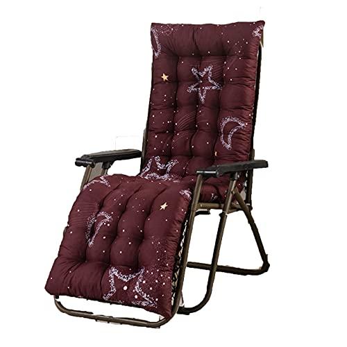 Bidet Cojín para Tumbona Cojín para sillón Cojín para sillón de Terciopelo Espesar Sillón Cojín para Asiento Silla de Oficina Colchón Cojín de Masaje (Color: Red Moon, Especificaci
