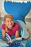 Enchantails - Mermaid Tail Sleeping Bag (Blue) - Includes: Bag, Pillow, Case, Book