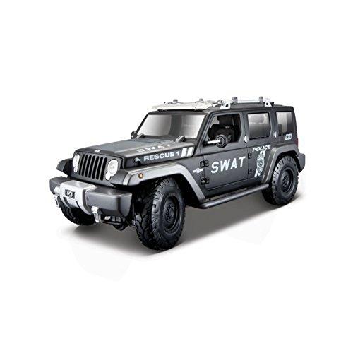 Maisto - 36211 - Véhicule Miniature - Modèle À L'échelle - Jeep Rescue Concept - Police - Echelle 1/18