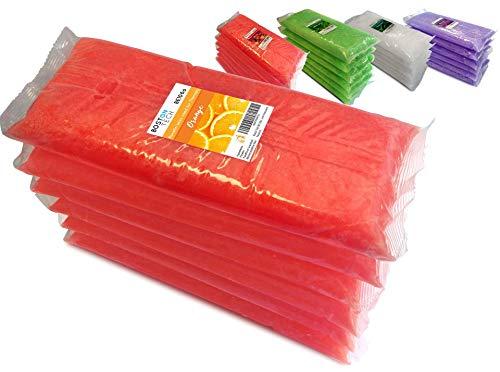 Boston Tech BE106-A Cire de paraffine pure 3 kg, 6 blocs de 500g C / u. Idéal pour tout bain à la paraffine. Usage thérapeutique et esthétique. (Orange)