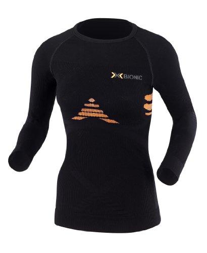 X-BIONIC I 20103 Energizer T-Shirt Long pour Femme Noir/Orange L/XL