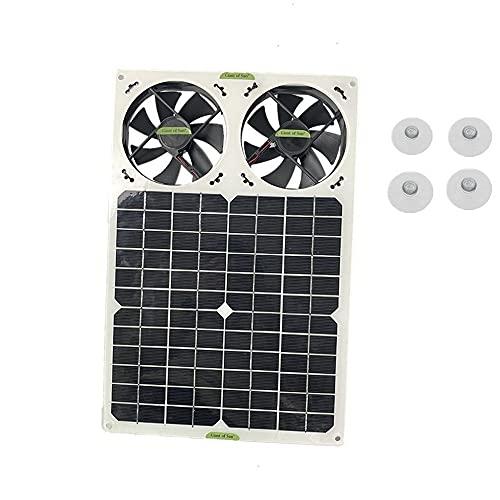 Ventilador de escape solar con panel solar, 40 W, 12 V, 6 pulgadas, mini ventilador, ventilador de escape solar, para perro, invernadero, RV