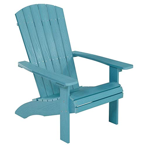 NEG Design Adirondack Stuhl Marcy (türkis-blau) Westport-Chair/Sessel aus Polywood-Kunststoff (Holzoptik, wetterfest, UV- und farbbeständig)
