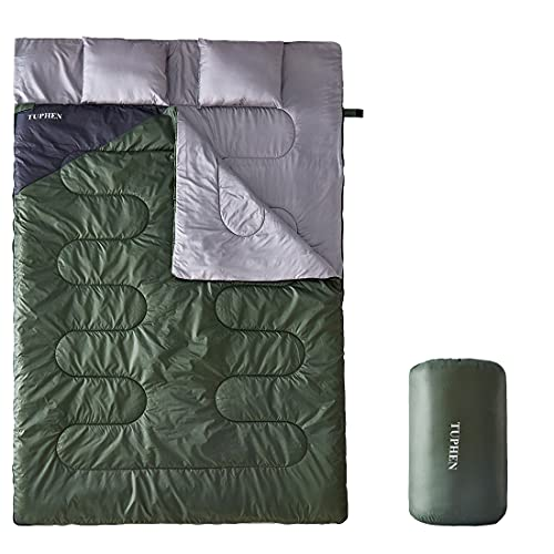tuphen- Sleeping Bags for Adults Kids Boys Girls Backpacking Hiking Camping Cotton Liner, Cold Warm Weather 4 Seasons Winter, Fall, Spring, Summer, Indoor Outdoor Use, Lightweight & Waterproof