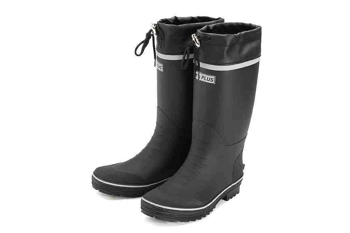 """着陸種類もっともらしい[K's PLUS] [ケーズプラス] ゴムカラーブーツ 紳士 長靴 ガーデニング 軽作業 """"ブラック or ネイビー 24.5cm~28.0cm""""17302"""