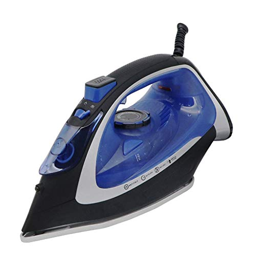 Steam Generator Iron Met anti-aanbak keramische Soleplate Small Compact Travel Steamer 2600W Garment Steamer for thuis en onderweg hardnekkige kreuken te verwijderen, Blue2600W stoomstrijkijzers beste