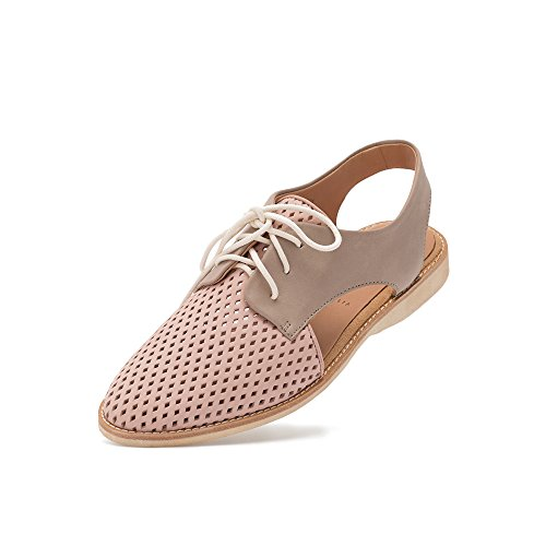 Rollie Women's Lightweight Slingback Punch Perforated Lace-Up Flat Sandal Shoe Lightest Weight in Premium Leathers Perfect for Travel and Walking with Comfort Memory Foam Footbeds in Soft Calfskin