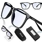 Brave Blaulichtfilter Brille Computer Glasses mit transparenten Linsen für Arbeit,...