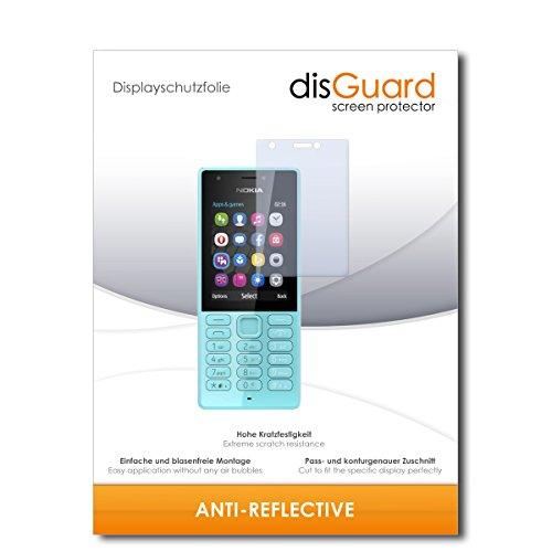 disGuard® Pellicola Protettiva [Anti-Reflex] Compatibile con Microsoft Nokia 216 Dual Sim [2 Pezzi] Antiriflesso, Matt, No Reflexion, Ultra Resistente, Effetto Anti-Impronte - Proteggi Schermo