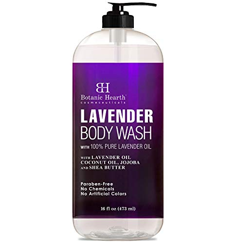 BOTANIC HEARTH Lavender Body Wash for Women & Men and Shower Gel - with Peppermint Oil - Fights...