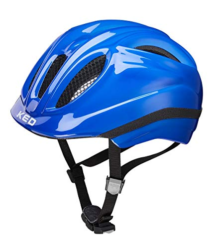 KED Meggy XS Blue - 44-49 cm - inkl. RennMaxe Sicherheitsband - Fahrradhelm Skaterhelm MTB BMX Kinder Jugendliche