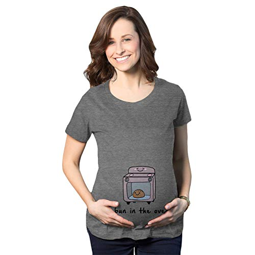Maternity Bun in The Oven T Shirt Funny Pregnancy...