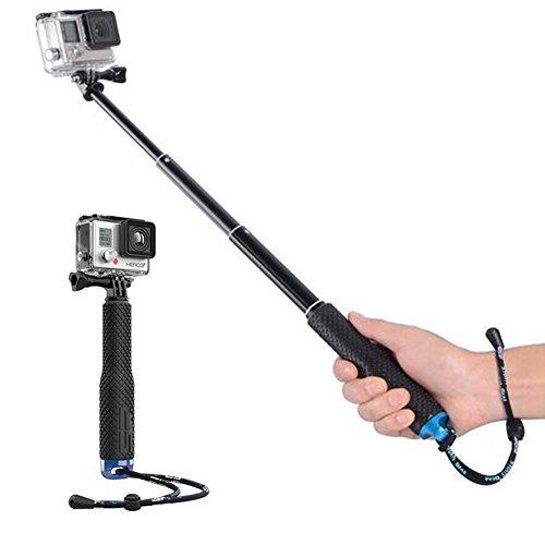 Walway 19'' Waterproof Underwater Hand Grip Adjustable Extension Selfie Stick Monopod Pole for GOPRO Hero 6/5/ 5 Session/ 4 Session/ 4/3+/ 3/2/1, GeekPro, AKASO, Xiaomi Yi, SJCAM (Blue)