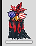 Chicken 4th of July Shirt Women Chicken-Lover American Flag Notebook. For Chicken Lover. Composition Notebook. College Ruled. 8.5 x 11. 120 Pages