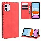 Xyamzhnn IPhone 11 Cas de téléphone Peau rétro Affaires Aspiration étui en Cuir magnétique avec...