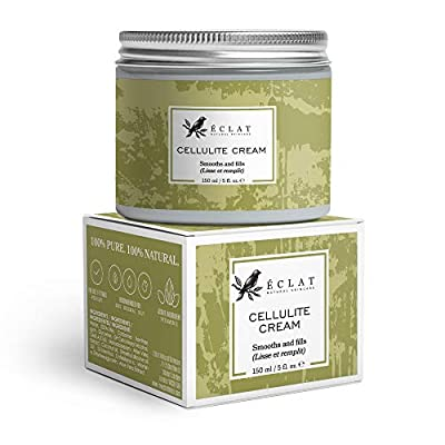 Cellulite cream by Eclat - All Natural Anti Cellulite Moisturiser - Smooths Lumps & Dimples - Improves Circulation - Firms and Tones
