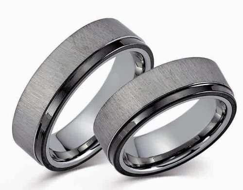 Juwelier Fidan by Cilor Partnerringe/Eheringe aus Wolfram/Tungsten (49 (15. 6))
