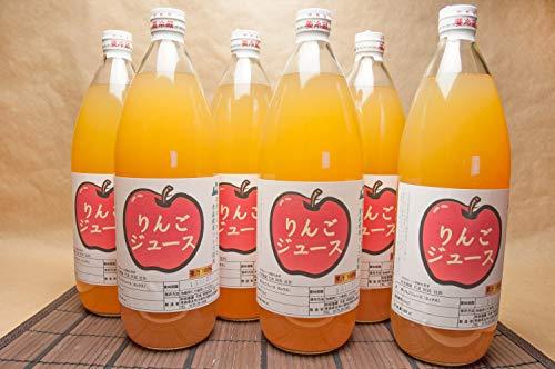 りんご100%ジュース 6本入(1本1000ml) (青森県 阿部農園) 産地直送 ふるさと21