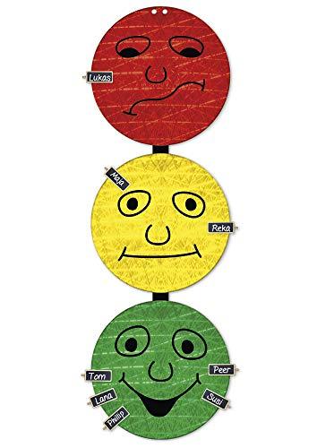 TimeTEX Verhaltens-Ampel - 3 x 30 cm ø - mit 24 Namensschildern - 6 Magnet oder Kordel zum Aufhängen - 10836 - Verhaltensampel