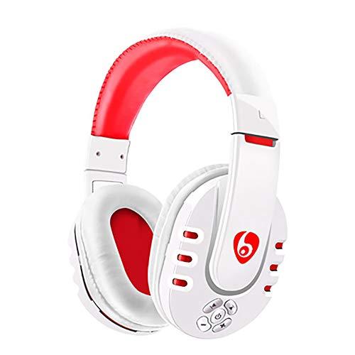 QLMY Verstelbare Bluetooth Wireless Over Ear headset met microfoon stereo snel opladen veilig volumeregeling voor werken reizen