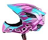 Kids Full Face Helmets, Kids Bike Helmet MTB Mountain BMX Multi-Sport Detachable Helmet from Toddler to Youth, CPSC Certificated