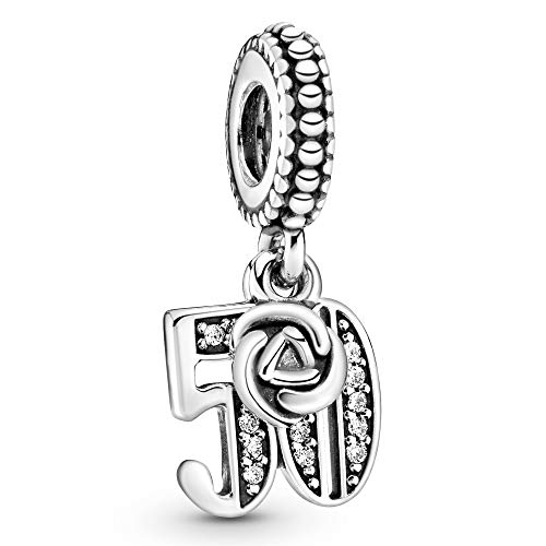 Pandora Moments 50th Birthday Charm Sterling Silver 797264CZ