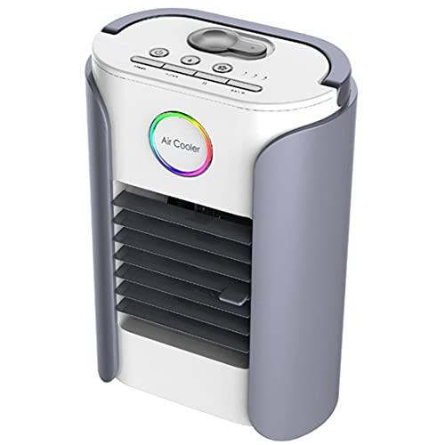 CloverGorge Ventilador de Aire Acondicionado Multifuncional USB Ligero Ventilador de Aire Acondicionado Humidificador Refrigerador de Aire evaporativo