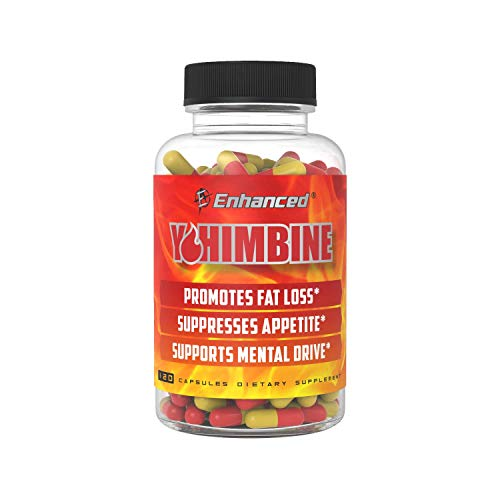 Enhanced Athlete - Yohimbine Fat Loss Accelerator - Appetite Suppressing Supplement to Promote Fat Loss (600mg) (120 Capsules)