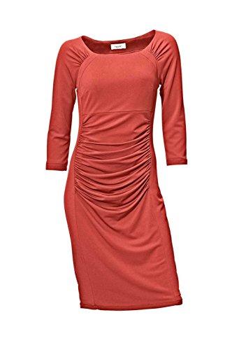 Heine Damen-Kleid Kleid mit Raffungen Orange Größe 40