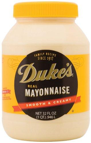 Duke's Mayonnaise, 32-Ounce Jars (Pack of 12)