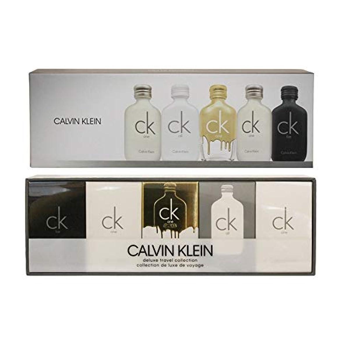 仲介者選出する通り抜けるカルバン クライン CALVIN KLEIN ck シーケー デラックス トラベル コレクション ミニチュア ギフトセット 10ml×5本
