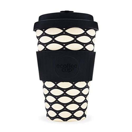 Ecoffee Basketcase wiederverwendbare Bambus-Kaffeetasse mit Silikondeckel, 400 ml