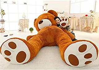 APTRIE American Teddy Bear Skins Skin 80Cm to 200Cm 260Cm Plush Unstuffed Toy Giant Empty Shell Coat Animals Kids Girls Birthday Gift Must Haves for Kids Child Gifts The Favourite DVD