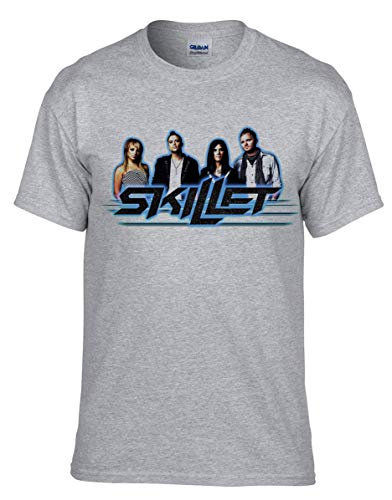 Skillet Rockband Rock Music Legends GRAU T-Shirt -K543 Kids -Grau (12-13 (152 cm))