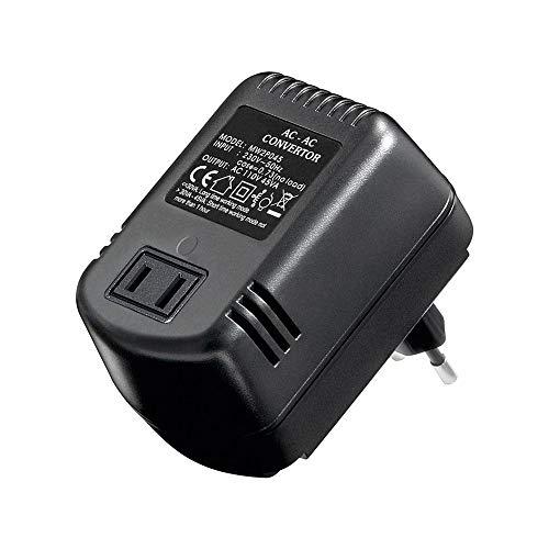 Goobay 54754 Spannungswandler 230V auf 110V AC bis 45W , für den Betrieb von elektrischen Geräten aus den USA in Europa