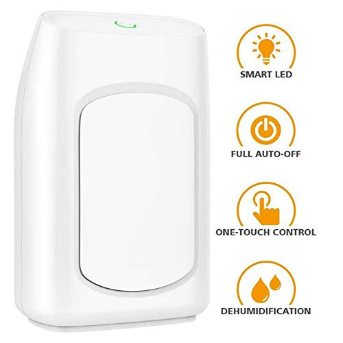 Learn More About LOISK 700ml Portable Electric Dehumidifier, Removes Humidity 300ml per Day, Detachable Water Tank, LED Indicator, Auto-Off, Efficient, Quiet