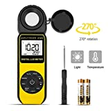 Light Meter 881D Digital Illuminance Meter Ambient Temperature Measurer with...
