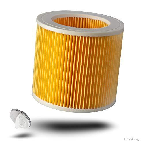 Cartuchos de filtro de repuesto para Kärcher WD 2, WD 3, WD 3200, WD 3300 M, WD 3500 P Kärcher MV3, SE 4001. SE 4002, 1:1 optimizado y apto para 6.414-522.0