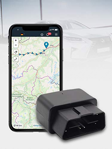 Salind GPS - Rastreador GPS para Coche (Enchufe OBD2, protección antirrobo para Coche, localización en Tiempo Real, localización en línea) (08)