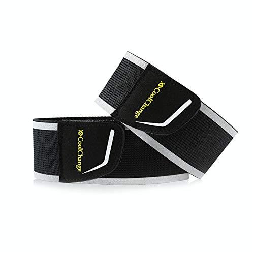 Zhantie 4 bandas reflectantes para pierna y brazo de alta visibilidad, para correr, ciclismo, etc.