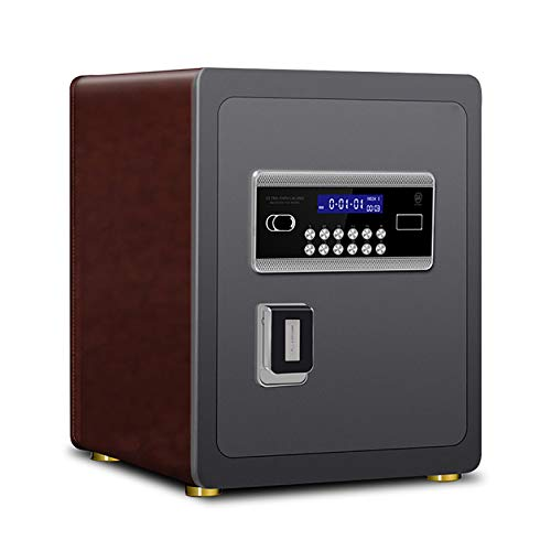 CLING Caja Fuerte de Seguridad 45 CM Oficina en casa contraseña de Huellas Dactilares de Acero Alarma Invisible antirrobo con luz de Sensor Hotel Business